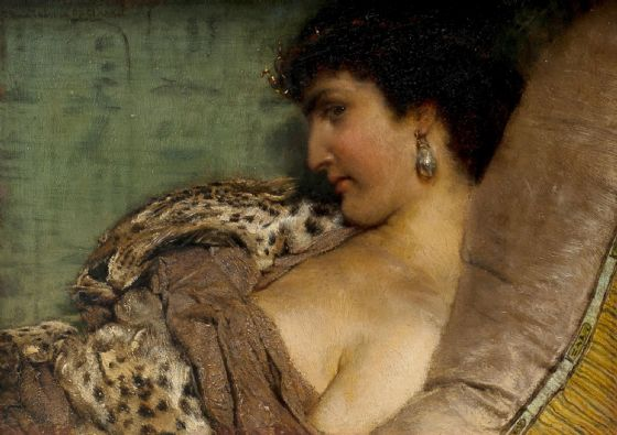 Alma-Tadema, Sir Lawrence: Cleopatra. Fine Art Print/Poster. Sizes: A4/A3/A2/A1 (003793)